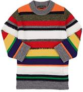Acne Studios Kids' Mini Niham Striped Wool-Cotton Sweater