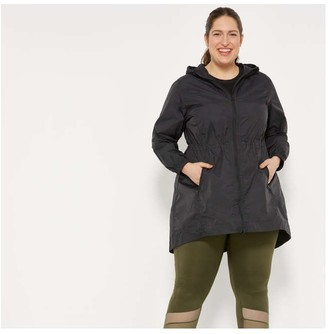 Joe Fresh Women+ Nylon Active Raincoat, JF Black (Size 2X)