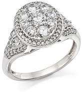 Bloomingdale's Certified Diamond Cluster Statement Ring in 14K White Gold, 1.25 ct. t.w. - 100% Exclusive