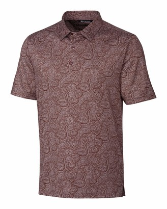 Cutter & Buck Men's Forge Paisley Heather Print Polo