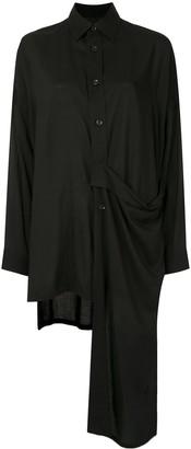 Yohji Yamamoto Side Drape-Detail Shirt