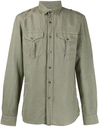Brunello Cucinelli Military Chest Pocket Shirt