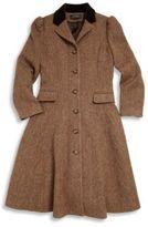 Ralph Lauren Girl's Tweed Princess Coat