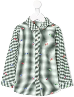 Familiar Long Sleeve Embroidered Tractor Shirt