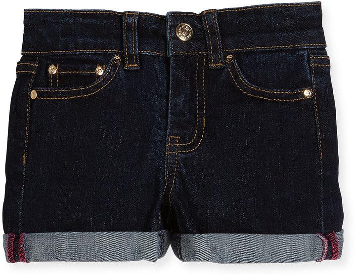 Kate Spade Rolled Stretch Denim Shorts, Indigo, Size 7-14