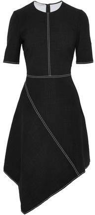 Stella McCartney Asymmetric Stretch-Wool Crepe Dress