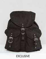 Reclaimed Vintage Canvas Backpack Black