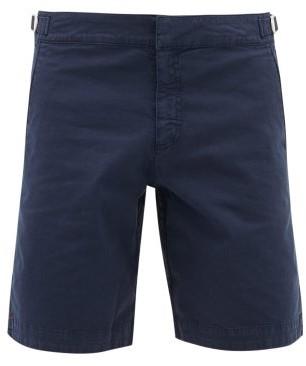 Orlebar Brown Dane Ii Cotton-blend Twill Shorts - Mens - Navy