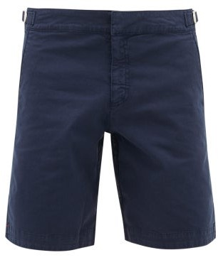 Orlebar Brown Dane Ii Cotton-blend Twill Shorts - Navy