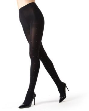 Me Moi Black Diamond Fancy Elegant Opaque Women's Tights