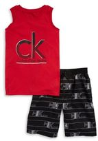 Calvin Klein Jeans Boys Muscle Tank and Shorts Set