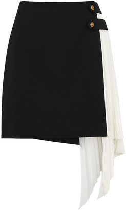Givenchy Monochrome Wool And Silk Mini Skirt