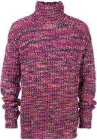Paura tonal knit turtleneck jumper