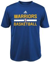adidas Boys 4-7 Golden State Warriors Practice climalite Tee