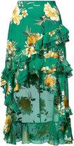 Alice + Olivia Alice+Olivia - floral print skirt - women - Silk/Polyester/Spandex/Elastane/Viscose - 0