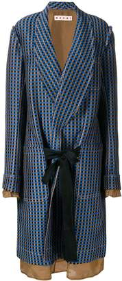 Marni single-breasted geometric coat
