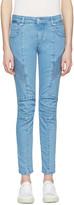 Pierre Balmain Blue Biker Jeans