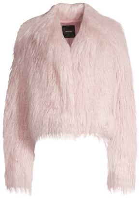 Smythe Faux Shearling Cropped Jacket