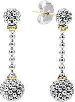 Lagos Sterling Silver Caviar Beaded Drop Earrings with 18K Gold