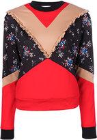 MSGM panelled sweatshirt - women - Polyamide/Polyester - 40