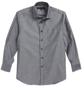 Report Collection Boy's Diamond Grid Dress Shirt