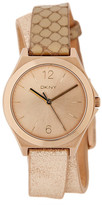 DKNY Women&s Parsons Round Leather Strap Watch
