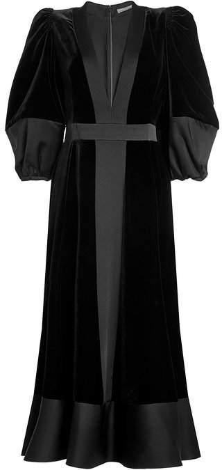 Alexander McQueen Velvet Gown with Silk
