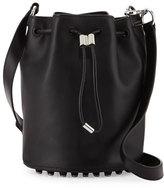 Alexander Wang Alpha Leather Bucket Bag, Black