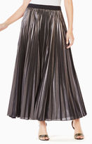 BCBGMAXAZRIA Dallin Pleated Metallic Maxi Skirt