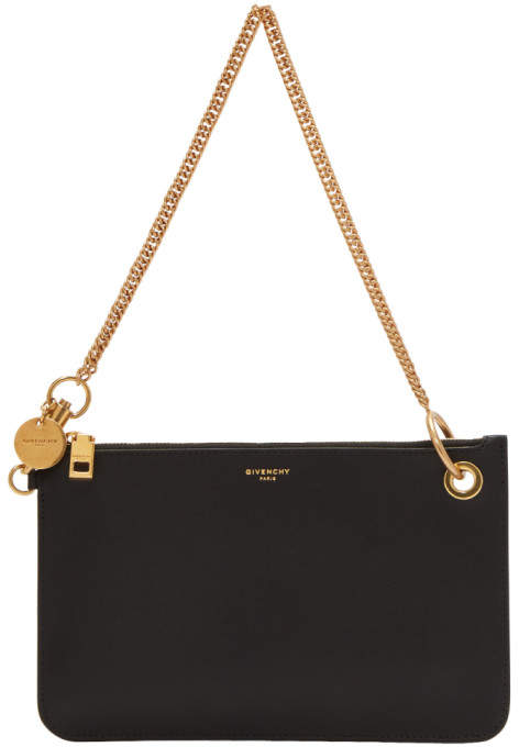 Givenchy Black GV Shopper Pouch Chain Bag
