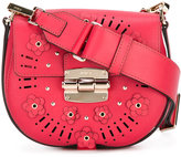 Furla small Club floral saddle bag - women - Leather/Nylon/Polyurethane - One Size