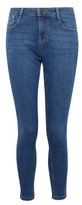 Dorothy Perkins Womens Blue Midwash Harper Relaxed Denim Jeans, Blue