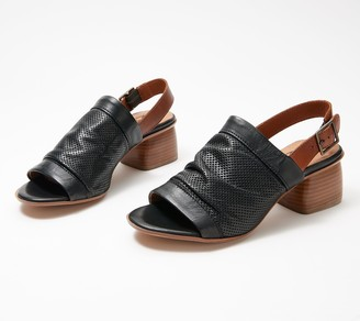 Miz Mooz Leather Slingback Heeled Sandals - Nori