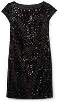 Vince Camuto Velvet Checkered-sequin Dress