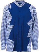 Christopher Kane contrast panel check shirt