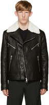 Neil Barrett Black Leather Biker Jacket