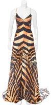 Plein Sud Jeans Printed Silk Dress