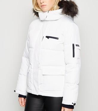 New Look Faux Fur Short Puffer Jacket