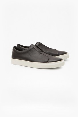 French Connection Non Eyelet Cupsole Leather Trainers