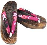 Ez-sofei Women's Japanese Shoes Wooden Clogs 24cm