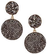 Natasha Accessories Fine Rock Double-Drop Earrings