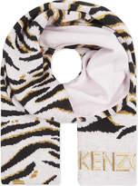Kenzo Tiger Striped Scarf