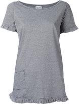 Twin-Set ruffled shortsveeles T-shirt - women - Cotton - S