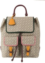 Tory Burch Perry jacquard flap backpack