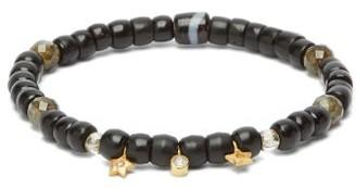 Musa By Bobbie - Diamond, Labradorite & 18kt Gold Beaded Bracelet - Black