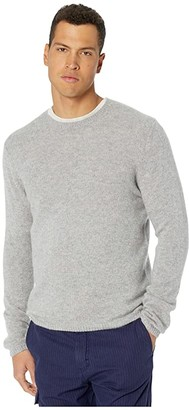 Vince Long Sleeve Cashmere Crew Sweater (Heathered Grey) Men's Clothing