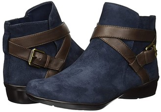 Naturalizer Cassandra (Navy/Brown Suede/Leather) Women's Pull-on Boots