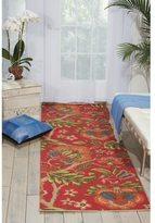 Waverly Global Awakening Imperial Dress Garnet Area Rug by Nourison (2'6 x 8')