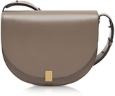 Victoria Beckham Dove Grey Leather Half Moon Box Shoulder Bag
