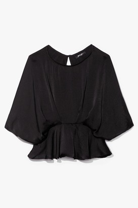 Nasty Gal Womens The Keyhole to Success Batwing Blouse - Black - S, Black